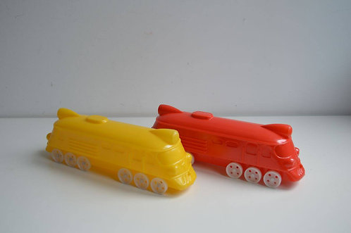 Plastic speelgoedtreinen uit voormalige Sovjet-Unie, jaren '60