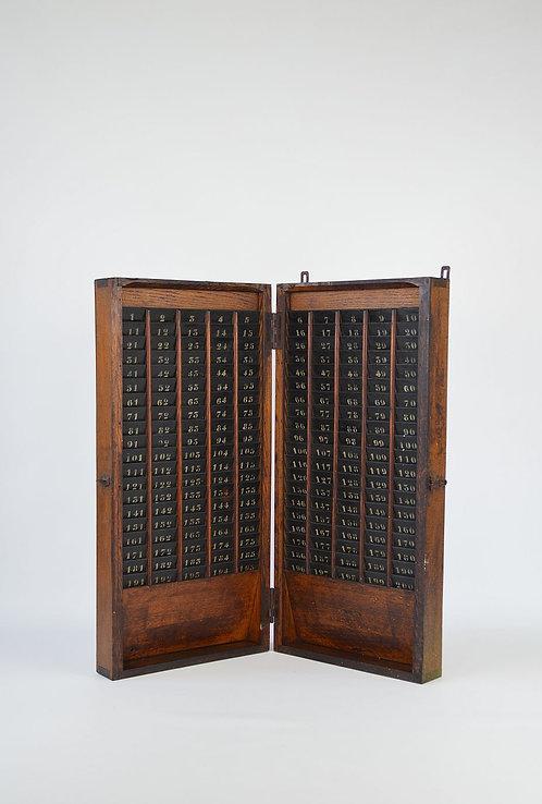 Antieke kaarthouder voor prikklok uit begin vorige eeuw