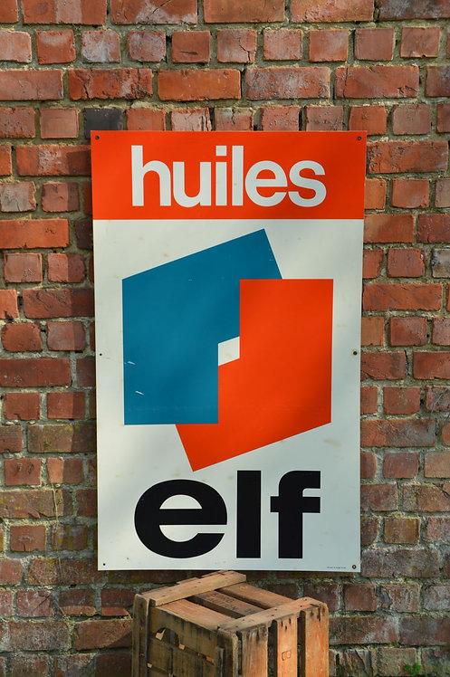 Decoratief reclamebord van 'Huiles Elf', 1980