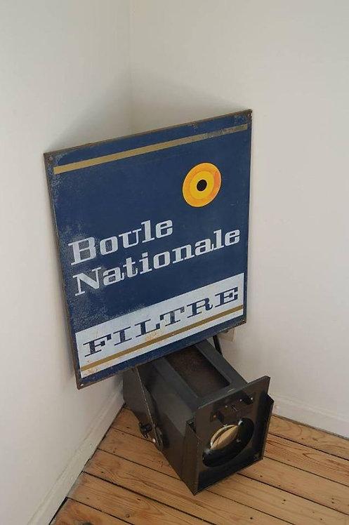 Vintage metalen reclamebord voor Boule National Filtre sigaretten, 1970