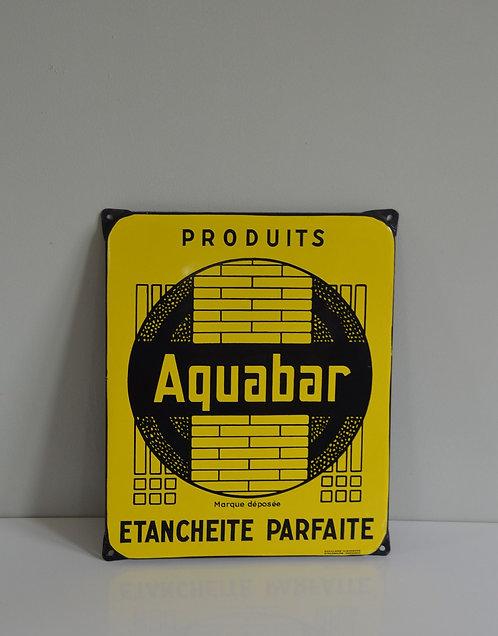 Emaille reclamebord voor Aquaba, Emaillerie Alsacienne, jaren '50