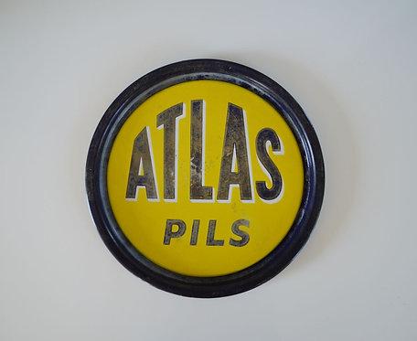 Emaille dienblad Atlas Pils, jaren '50