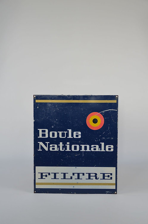 Metalen reclamebord Boule Nationale Filtre, 1968