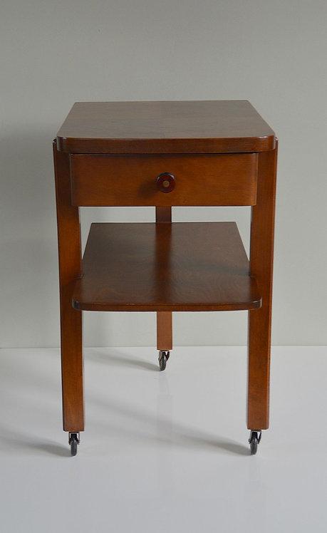 Prachtige houten roltafel in Art Deco stijl, jaren '30