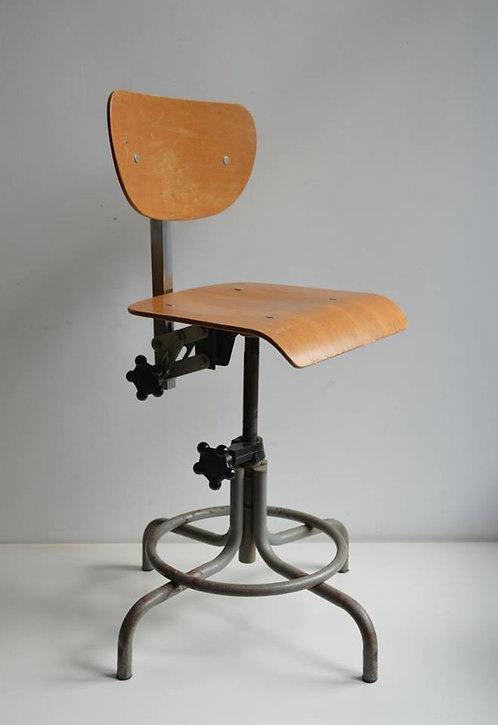 Verstelbare industriële bureaustoel uit Frankrijk