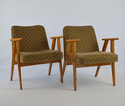 Set van 2 zetels 'Model 366' ontworpen door Józef Chierowski, jaren '50