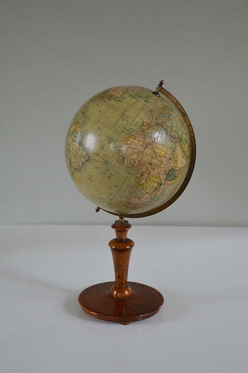 Antieke wereldbol op houten voet, Columbus Erdglobus, jaren '20