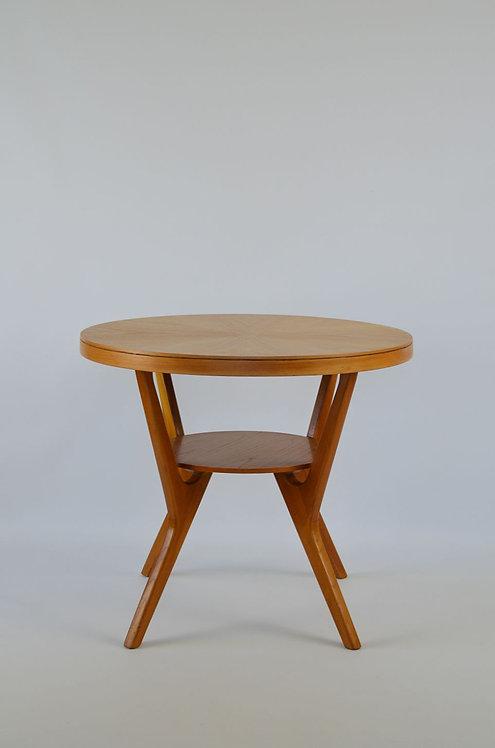 Scandinavische houten salontafel met 2 niveau's, jaren '60