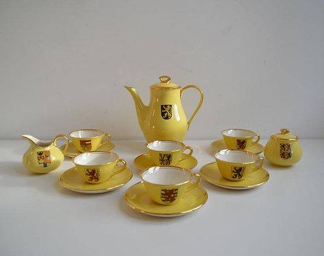 Zeer zeldzaam koffieservies van Keralux Boch voor Expo 58