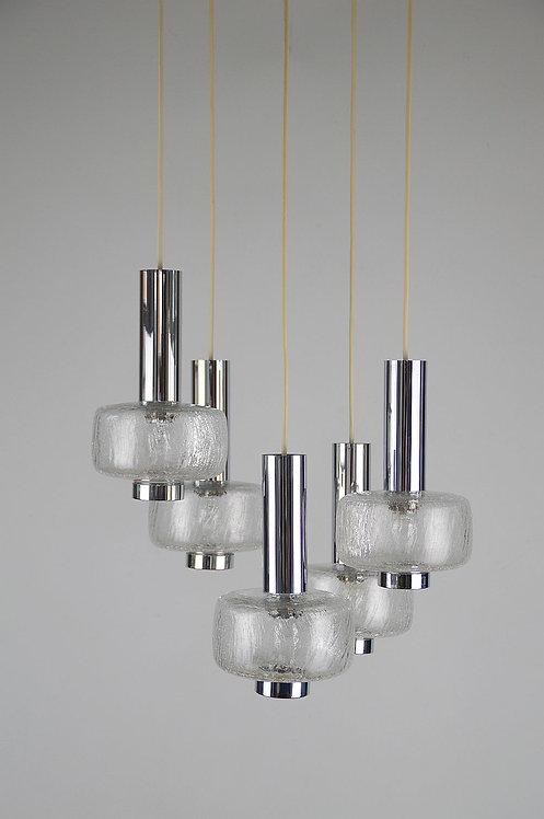 Vintage hanglamp van Hillebrand Leuchten, 1970