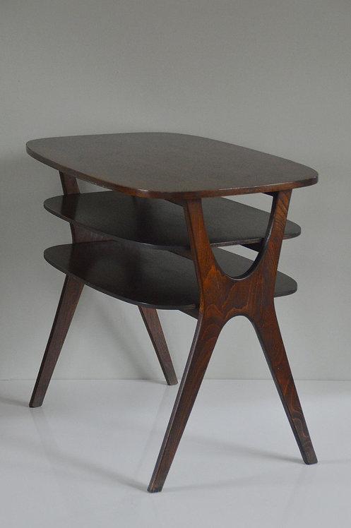 Vintage houten salontafel met Scandinavische vormgeving