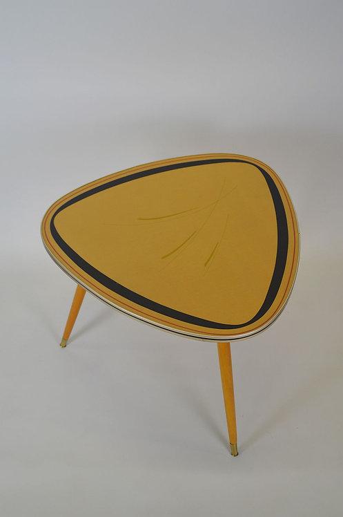 Plectrum-vormige salontafel met motief, jaren '50
