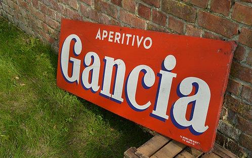Metalen reclamebord van Aperitivo Gancia (Artemail Brussel, 1962)