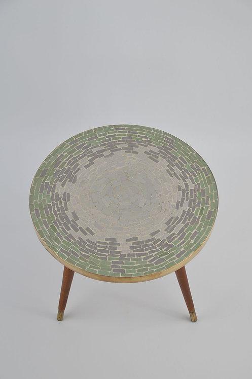 Vintage plantentafel met gekleurde mozaïek, jaren '50