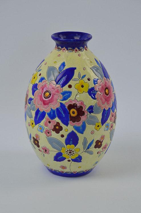 Charles Catteau Keramis art deco vaas, jaren '30