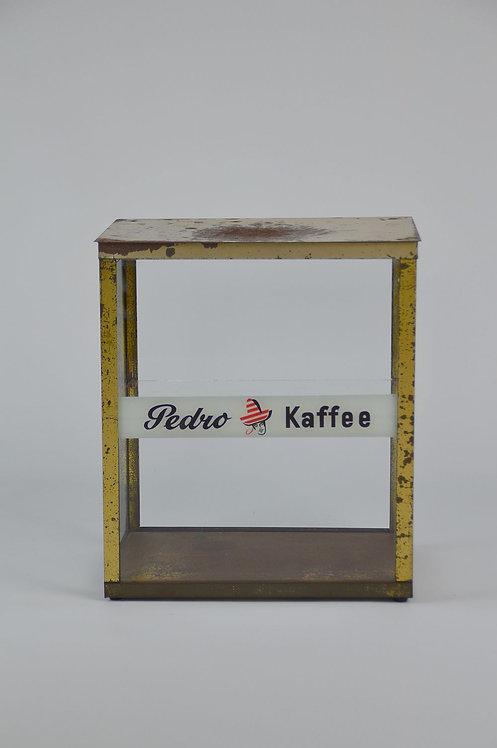 Oude toonbank vitrinekast voor 'Pedro Kaffee', jaren '50