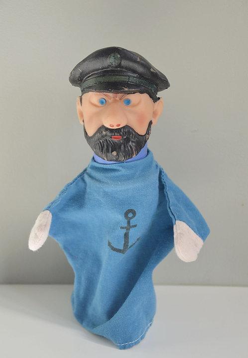 Handpop Kapitein Haddock door  Nazaire Beeusaert, jaren '60