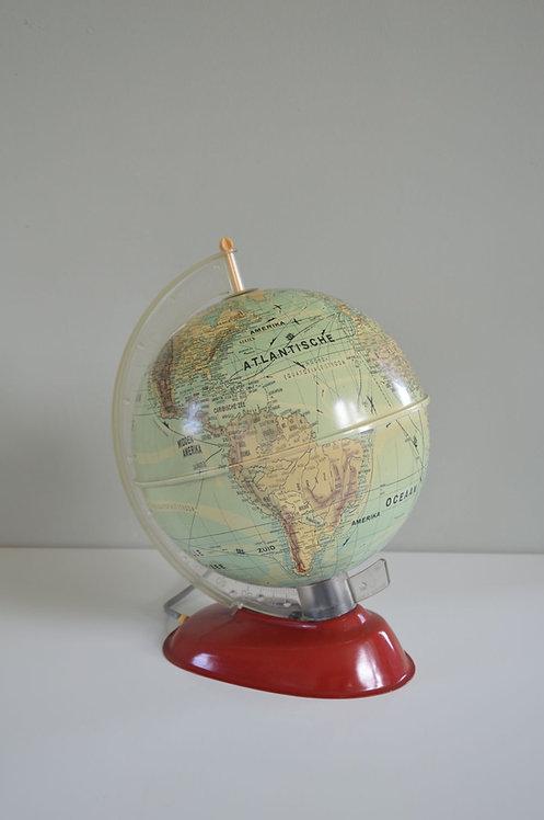 Vintage wereldbol met verlichting uit de jaren '60, MS (Western-Germany)
