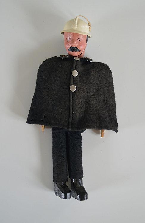 Marionet van agent 15 uit de stripverhalen van Kwik & Flupke (Hergé), jaren '50