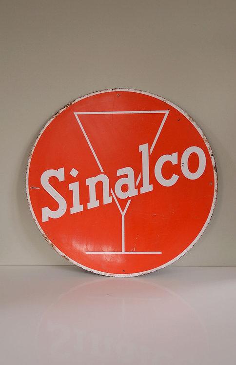Vintage metalen reclamebord Sinalco limonade, Plastemal 1960