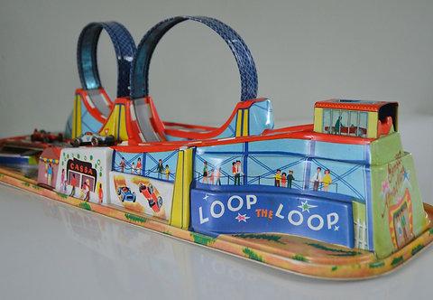 Kleurrijke 'Loop the Loop' racebaan inclusief 2 racewagens, Technofix
