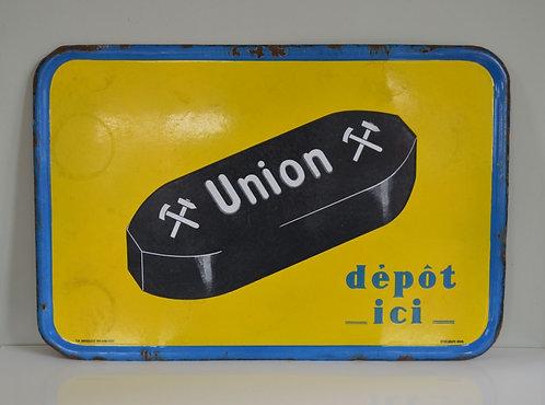 Vintage emaille reclamebord voor Union uit 1934