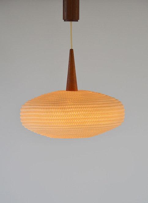 Scandinavische UFO-vormige plafondlamp, jaren 60
