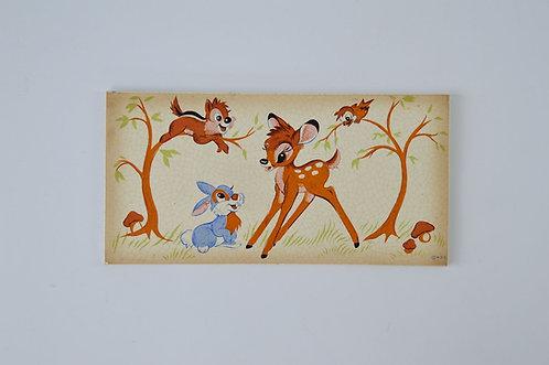 Keramische tegel met afbeelding van Bambi (Walt Disney), 1958