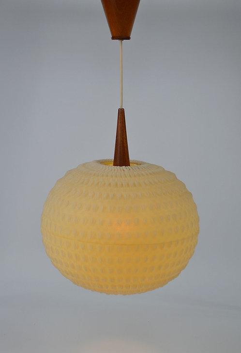 Scandinavische vintage hanglamp met reliëf, jaren '60