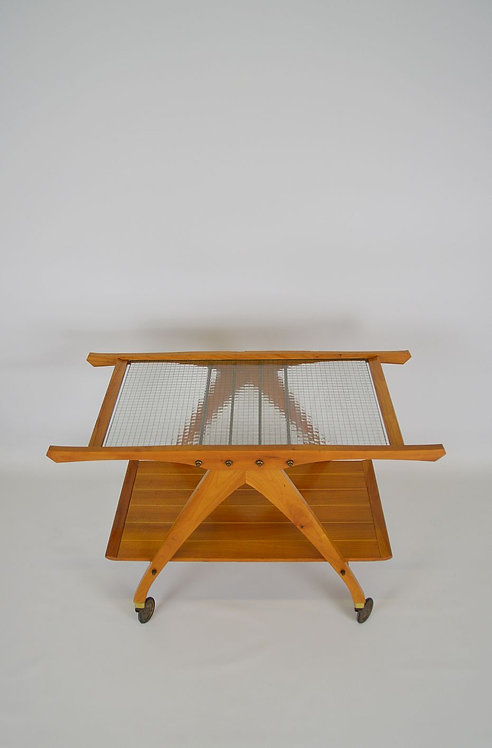 Zeldzame roltafel van Ilse Möbel, jaren '50
