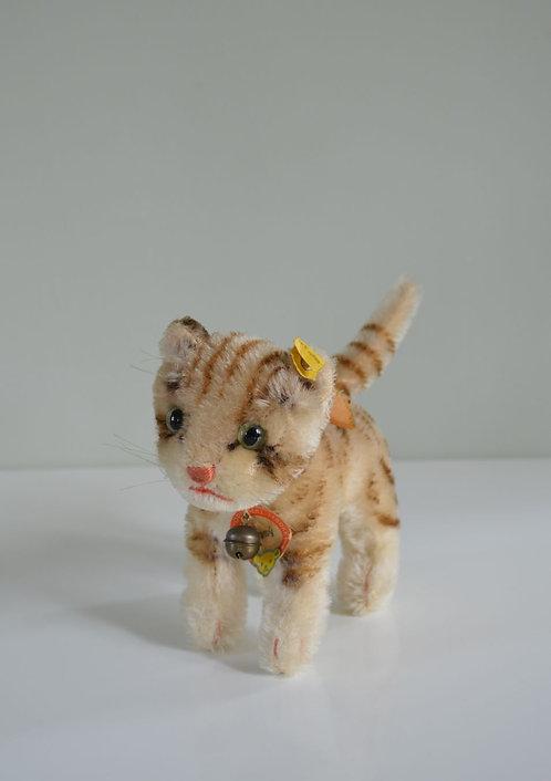 Vintage Steiff kat Tapsy van mohair, jaren '50