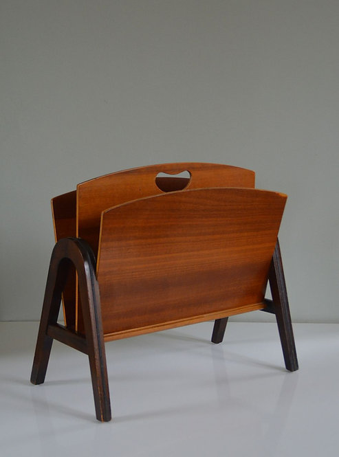 Vintage lectuurbak in hout, jaren '50