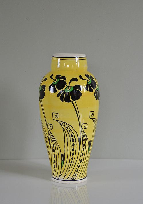 Art Deco vaas, Charles Catteau voor BFK (Boch), 1923