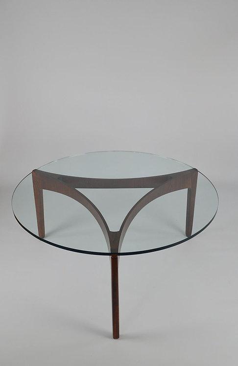 Palissander salontafel van Sven Ellekaer voor Christian Linneberg, 1962