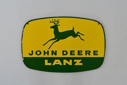 Reclamebord in emaille voor John Deere (Pyro Emaille, Boos und Hahn)