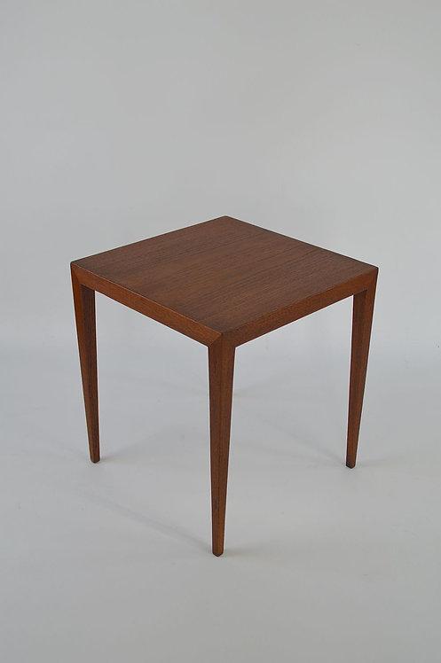 Deense houten bijzettafel van Severin Hansen voor Haslev, jaren '60