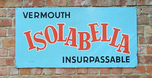 Metalen reclamebord van het Italiaanse merk van Vermouth 'Isolabella'