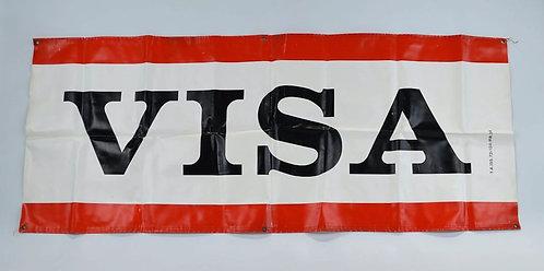 Banner met reclame van VISA sigaretten, jaren '70