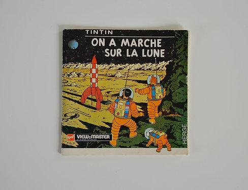 View-Master 'on a marché sur la lune' van Kuifje, 1965