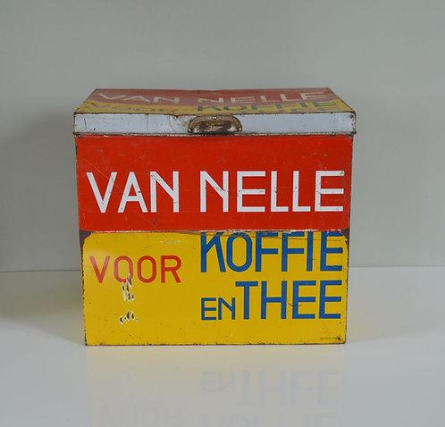Oude winkeltrommel van Van Nelle Koffie en Thee uit de jaren '30