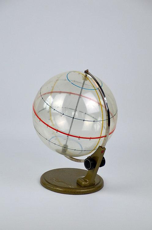 Zeldzame roterende aardrijkskundige onderwijs globe, jaren '50