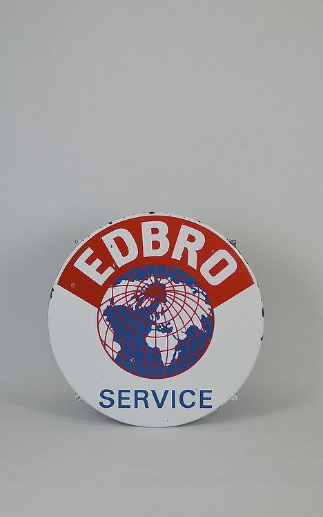 Emaille reclamebord voor Edbro Service