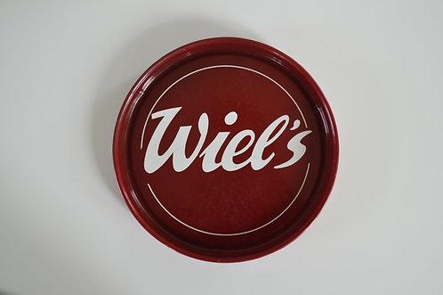Emaille dienblad Wiel's in mooie staat, jaren '50