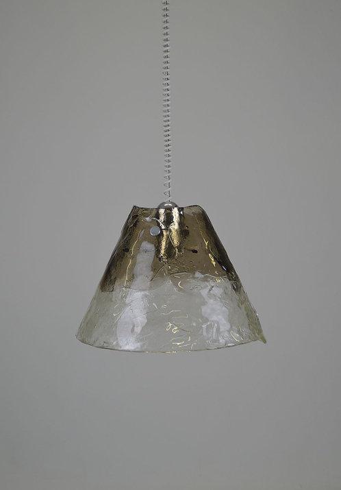 Mid century hanglamp met Murano glas ontworpen door J.T. Kalmar, jaren '70