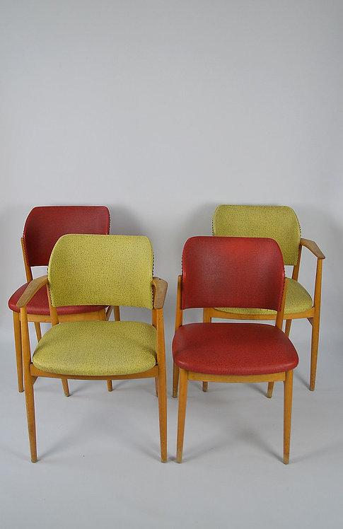 Set van 4 stoelen uit de voormalige DDR, jaren '60