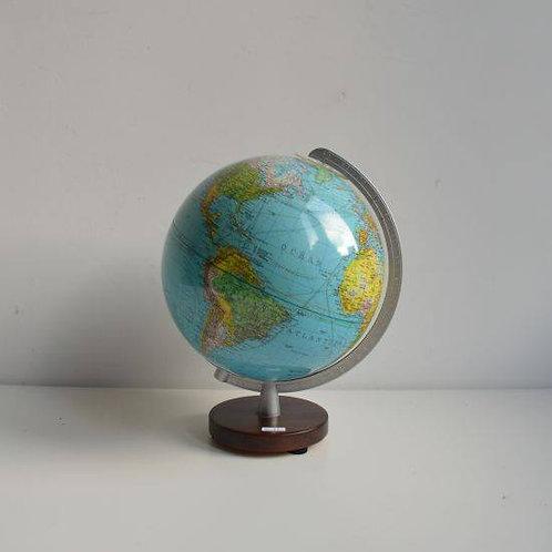 Duplex wereldbol op houten voet