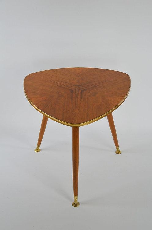 Plectrumvormige salontafel met prachtig bovenblad, jaren '50