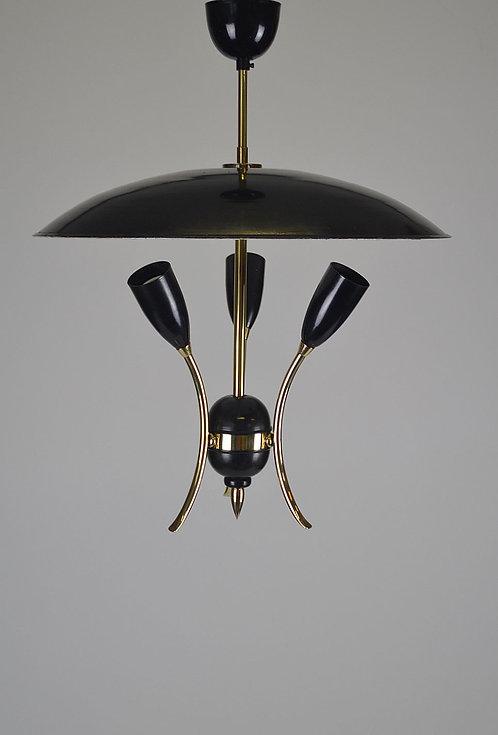 Jaren '50 hanglamp in Stilnovo stijl