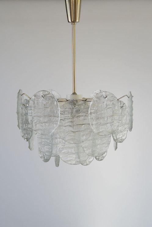Prachtige mid-century hanglamp van J.T. Kalmar voor Franken KG