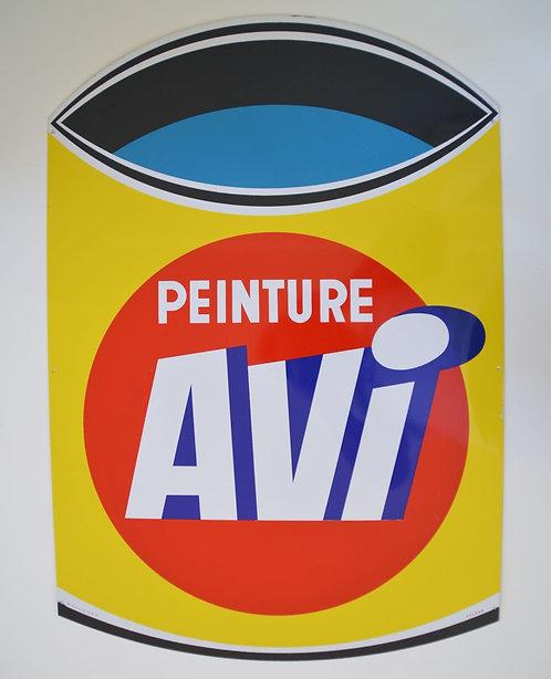 Metalen reclamebord Peinture Avi in zeer mooie staat (1956?)